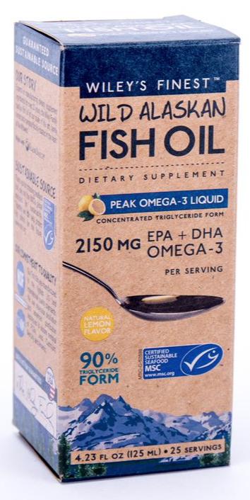 peak omega3 liquid  wiley's finest