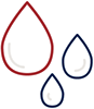 Line icon of three water drops